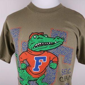 Florida Gators 1991 SEC Champs Vintage Shirt Med M
